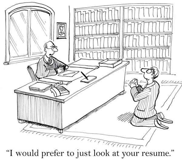 Funny job interview - begging