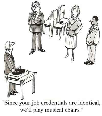 Alternative way to recruit candidates - by playing musical chairs!