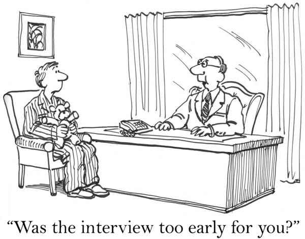 A candidate in his pyjamas is struggling with an early interview