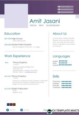 Highlight CV template