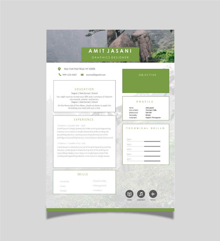 Smart boxes CV template