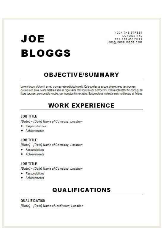 alternative bold black cv résumé template cv template master