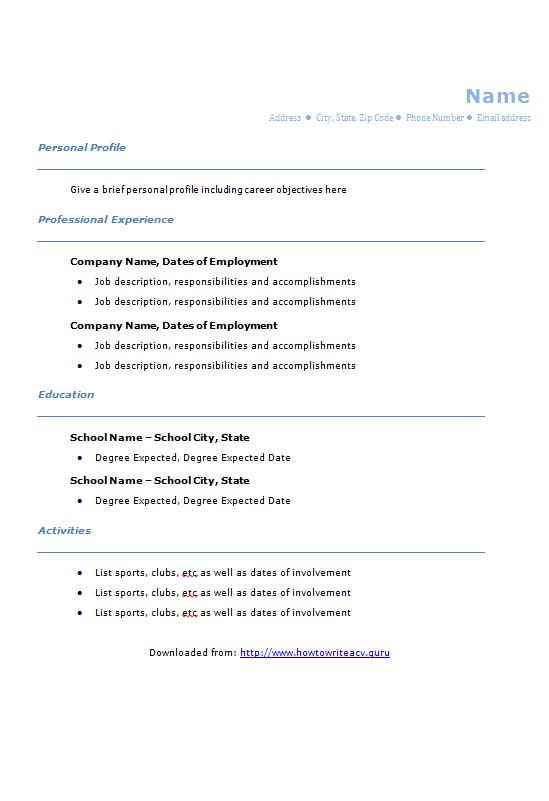 blue college graduate cv template