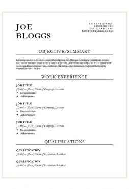Bold black CV template