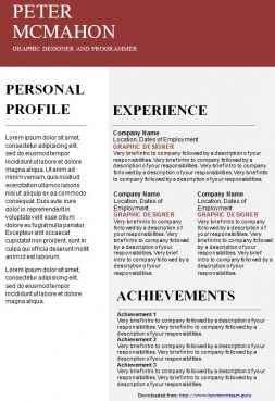 Burgundy creative CV template