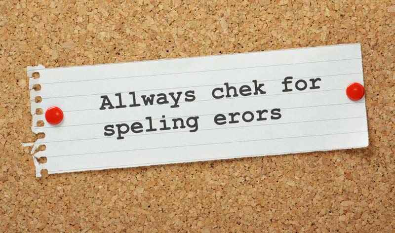 CV mistakes spelling errors concept