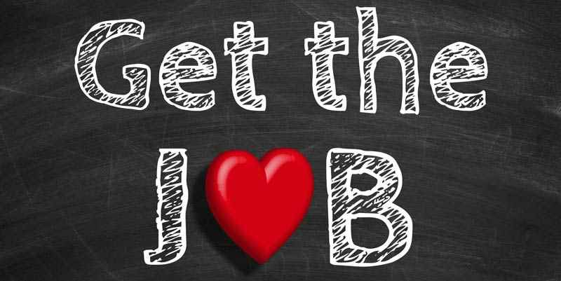 How to get a job graphic concept
