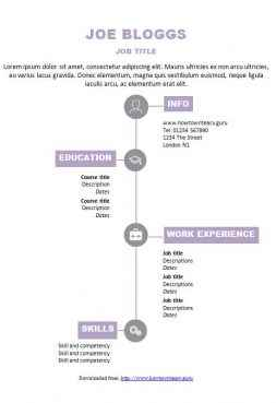 Icon CV template