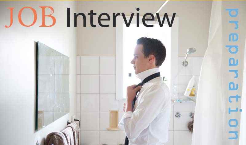 Job interview preparation concept