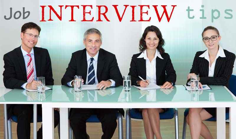 Job interview tips concept