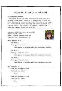 Pieced together CV template