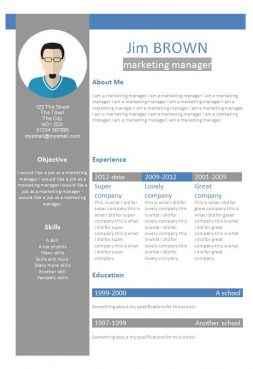 Profile creative CV template