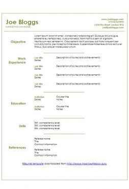 Sage green CV template