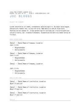 Typeface CV template