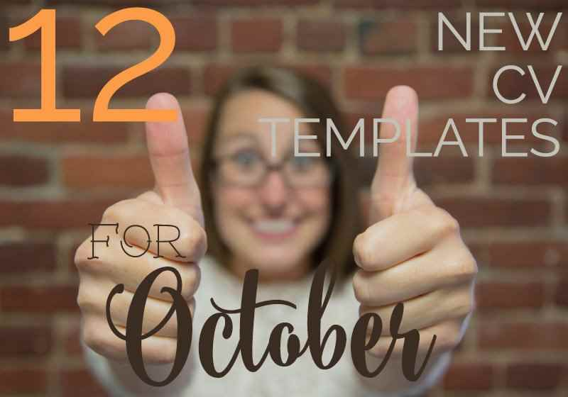 12 new CV templates for October