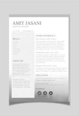 Banded CV Template