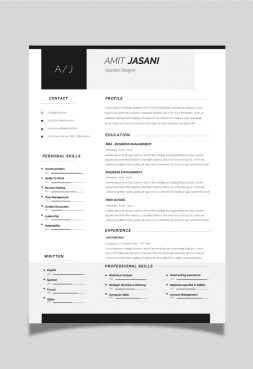 Contact Icons CV template