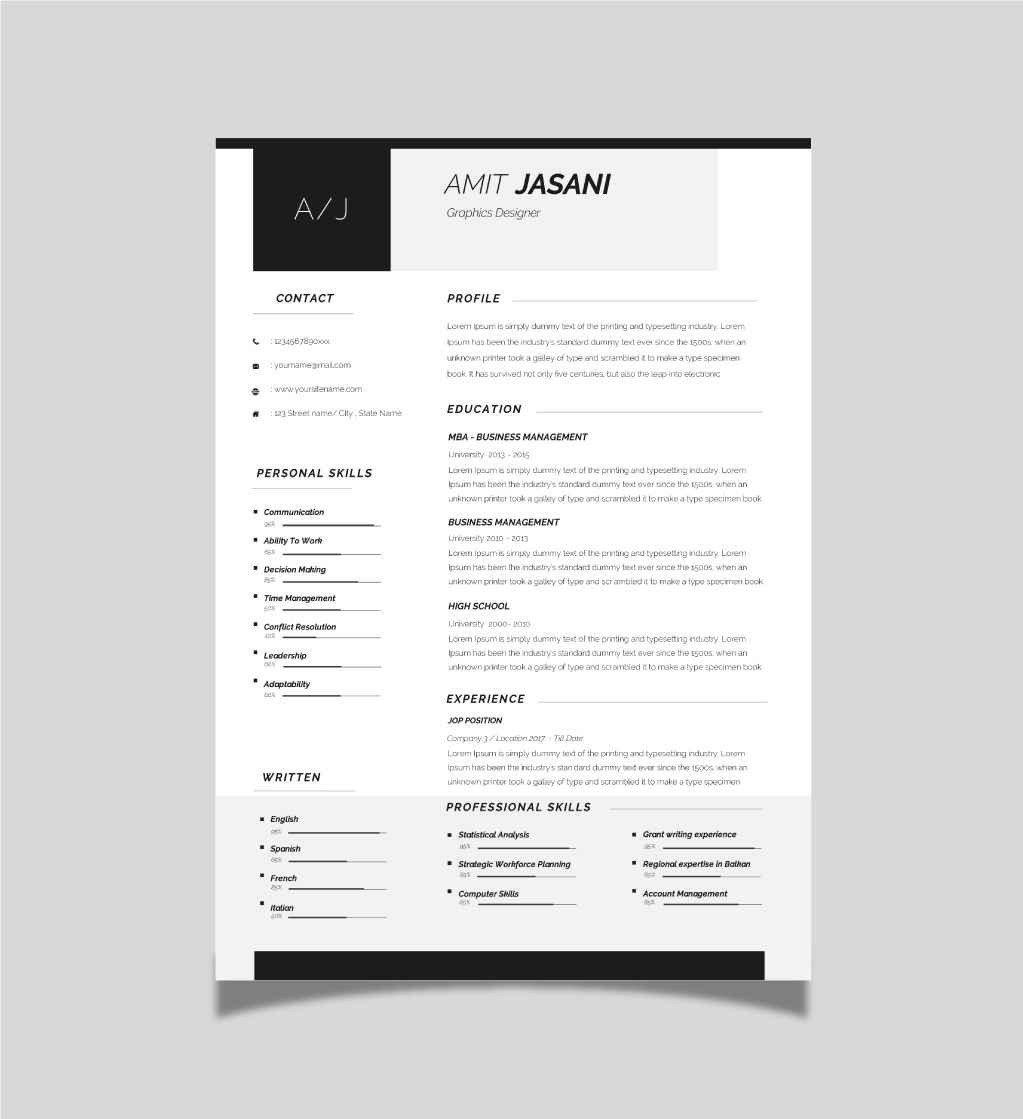 contact icons microsoft word cv template