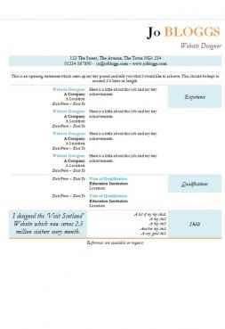 Highlight CV template