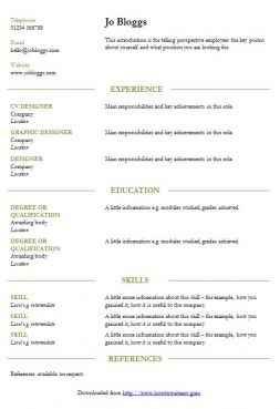 Smart green lines CV template