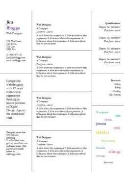Windows Word CV template