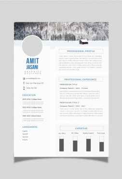 Tables CV template