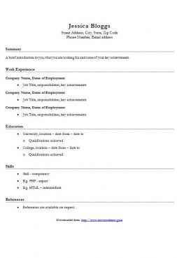 Basic CV Template 2016  Resume Template Word