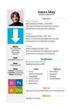 Arrows CV template in MS Word