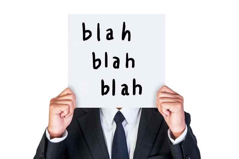 Speaking nonsense at a job interview