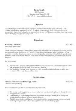 Great Basic CV Template 2018