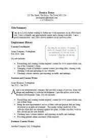Example CV template