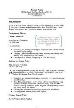 cv examples free examples of cvs for different professions