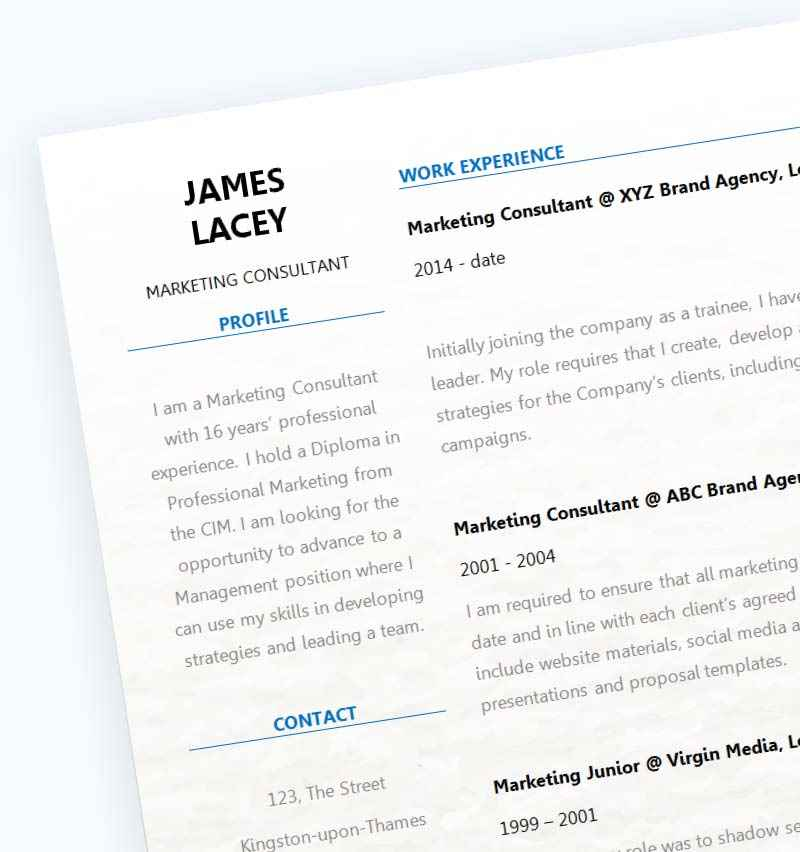 Fresh two column cv template cv template master fresh cv template close up yelopaper