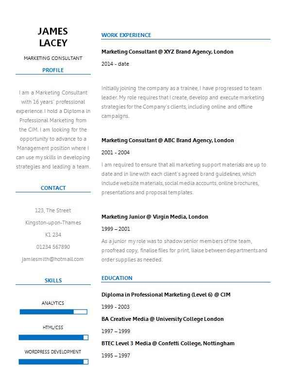 Fresh two column cv template cv template master the left column is used for your name contact details objective statement skills and awards while the right column holds your work experience yelopaper