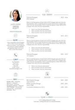 Elegance CV Template  Resume Free Template Download
