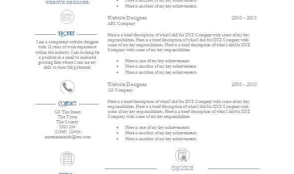 Elegance CV template
