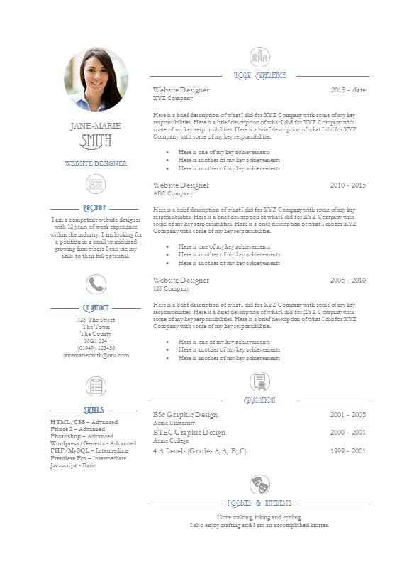 elegance cv template free download