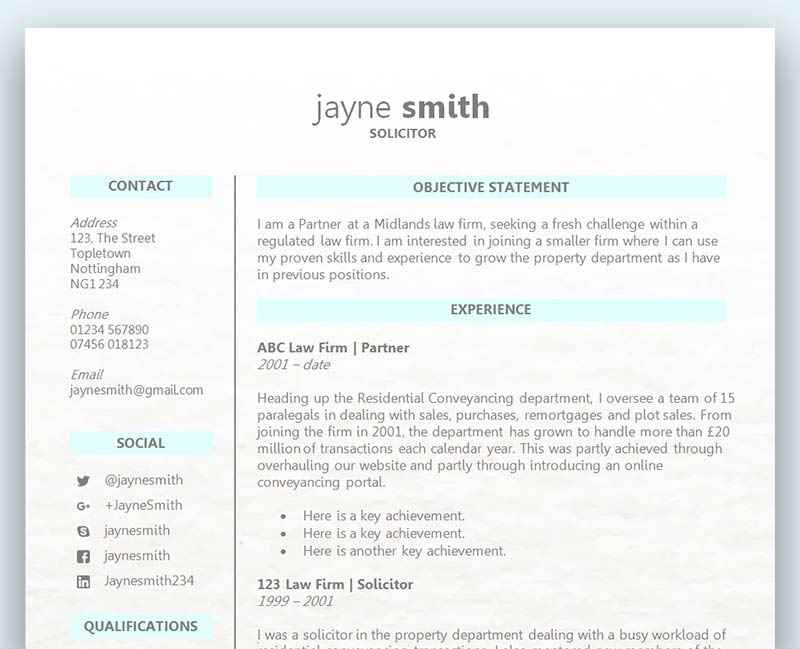 Cv Templates Free To Download In Microsoft Word Format