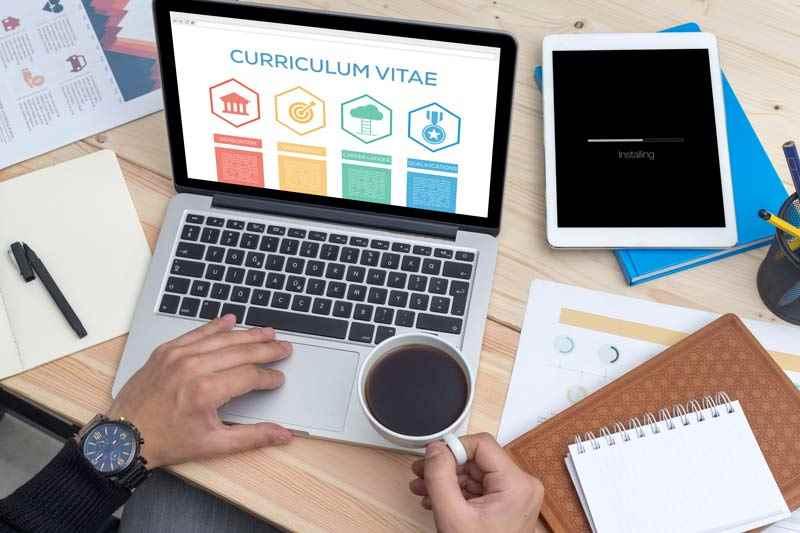 Management CV on computer