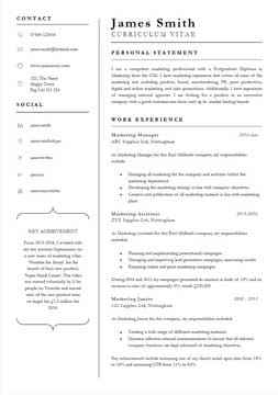 word template for cv