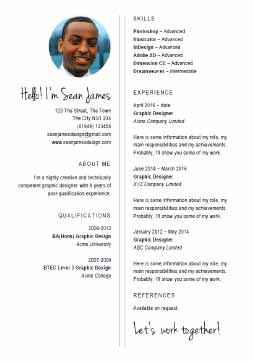 Example Of Resume Le | 132 Cv Templates Free To Download In Microsoft Word Format