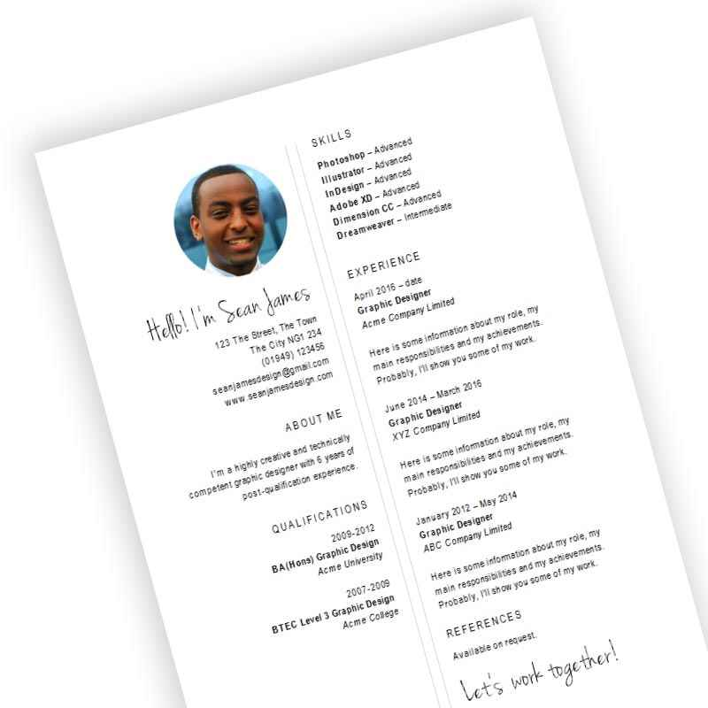 free designer cv template download for creative roles in ms word format