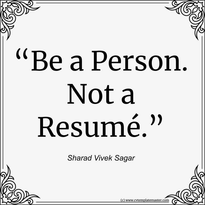 Person not resume