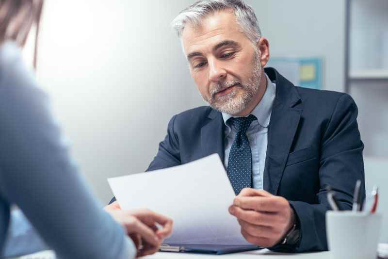 Using a CV template at a job interview