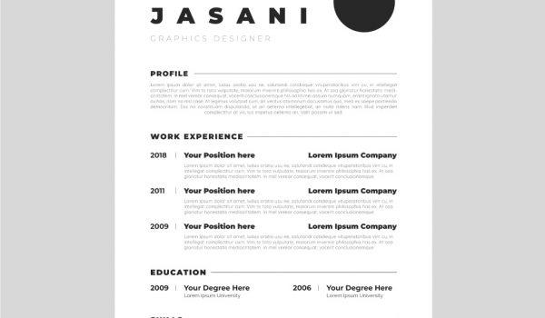 Minimalist CV template