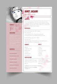 Feminine CV template