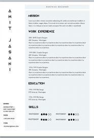 A Resume Template On Word | 153 Cv Templates Free To Download In Microsoft Word Format