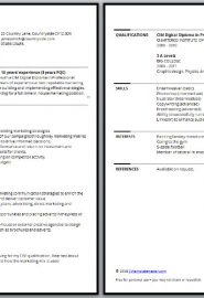 Bordered CV template