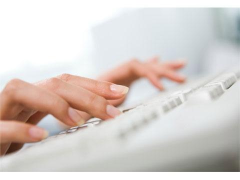 Typing a CV