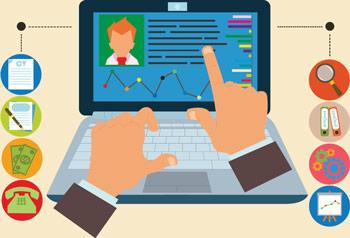 Job hunting illustration online